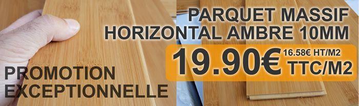 Promotion Parquet Bambou Horizontal Ambre