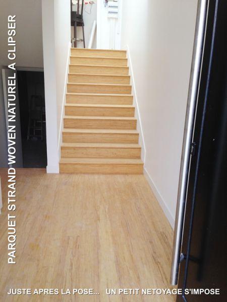parquet strand woven naturel clipser 1850x125x14mm light. Black Bedroom Furniture Sets. Home Design Ideas