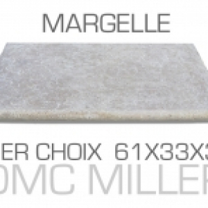 Margelle piscine en Travertin 1er choix 61x33x3cm