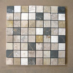 ASPEN - Mosaique Marbre Black & Brown  36 X 36 mm