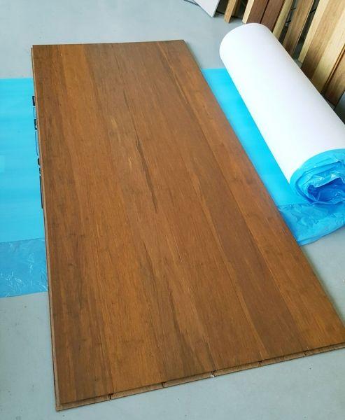 parquet strand woven ambre clipser. Black Bedroom Furniture Sets. Home Design Ideas