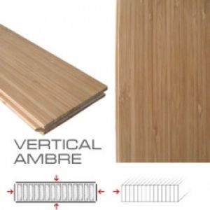 Lot de 4.15 m2 parquet VERTICAL AMBRE 940x92x14.5mm